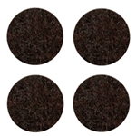 "D5015 - 4"" dark brown felt pads"
