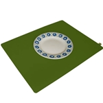 8203 - olive green placemat