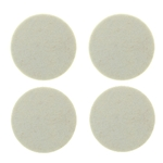 "5012W - Four 2.5"" Industrial Strength Adhesive Felt Disks"