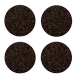 "5012D - Four 2.5"" Industrial Strength Dark Adhesive Felt Disks"
