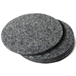 Grey Felt Coasters 4 pack