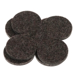 "5001 - 2 Sets of Four 1.5"" Industrial Strength Adhesive Felt Disks"