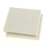 "5006W - 2 Industrial Strength Adhesive Felt Pads of 3"" x 3"""